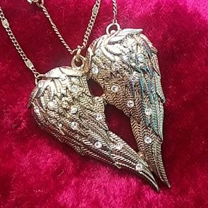 Angel Wings with Bird Necklace